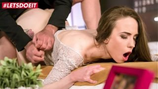 LETSDOEIT – Russian Teen Angel Rush Fucks With Her Older BF While He Speaks At The Phone During Sex