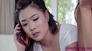 Sister new to whoring so I fuck her BF- Ember Snow & Kaya Lin